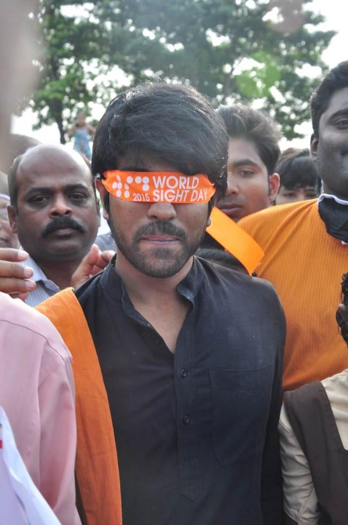Ram Charan,actor Ram Charan,World Sight Day Walk 2015,World Sight Day 2015,World Sight Day,Ram Charan at Deonar World Sight Day Walk 2015,Ram Charan walks at Deonar World Sight Day 2015,Mission to Give Vision