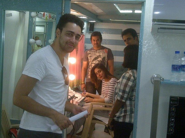 Kareena Kapoor and Imrran Khan on the sets of GTPM