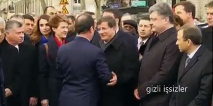 A clip showing French President Francois Hollande giving a cold shoulder to the Turkish Prime Minister Ahmet Davutoglu is being shared widely.