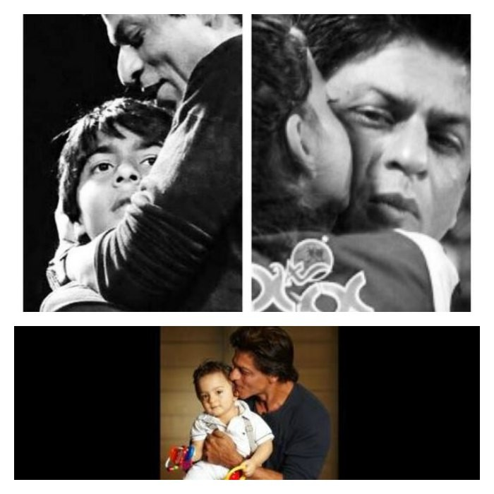 Cute Picture of SRK with Aryan, Suhana and AbRam