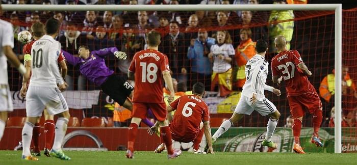 Cristiano Ronaldo Real Madrid Martin Skrtel Liverpool