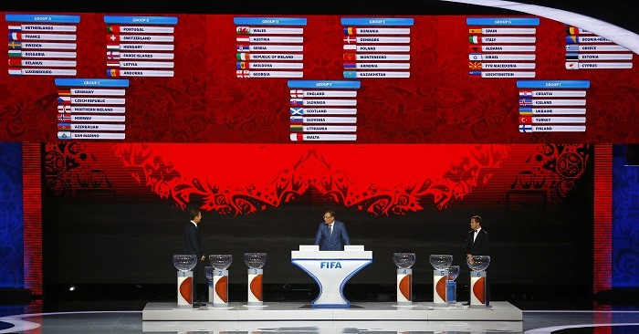 Fifa 2018 World Cup preliminary draw