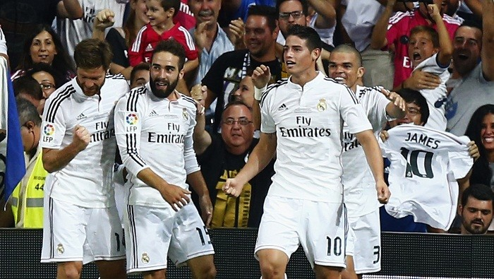 James Rodriguez Real Madrid Carvajal Pepe Ramos