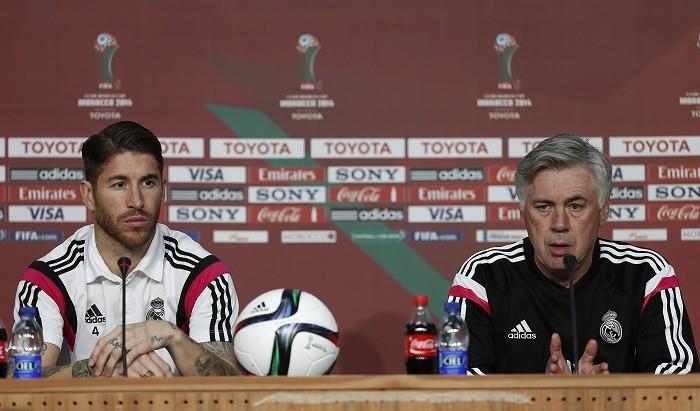 Sergio Ramos and Carlo Ancelotti
