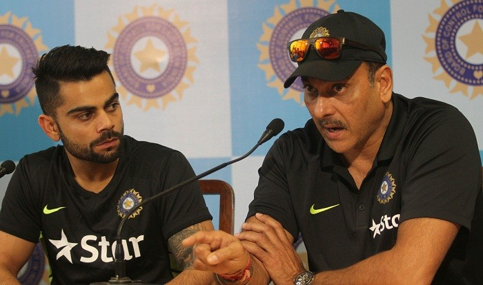 Image result for virat kohli and ravi shastri
