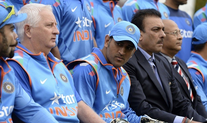Duncan Fletcher MS Dhoni Ravi Shastri India