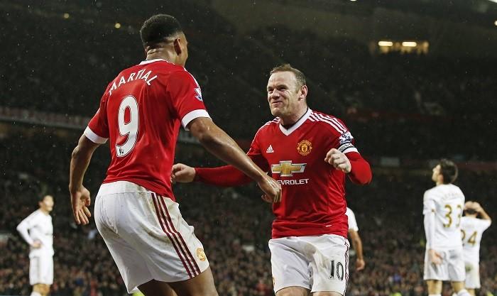 Anthony Martial Wayne Rooney Manchester United