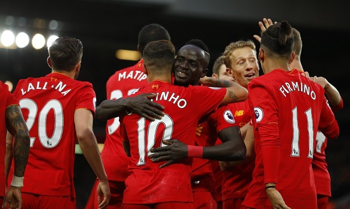 Liverpool vs watford reds go top of premier league table for Table watford