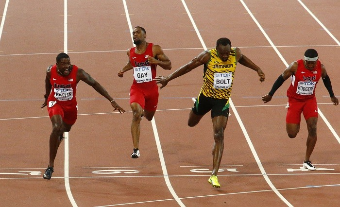 Justin Gatlin Tyson Gay Usain Bolt World Athletics Championships 2015