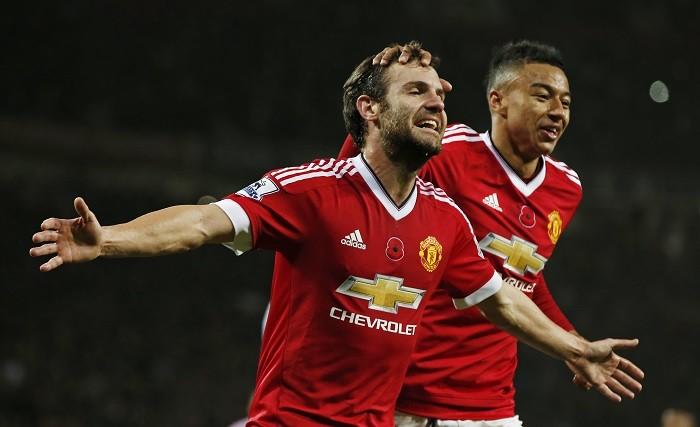 Juan Mata Jesse Lingard Manchester United