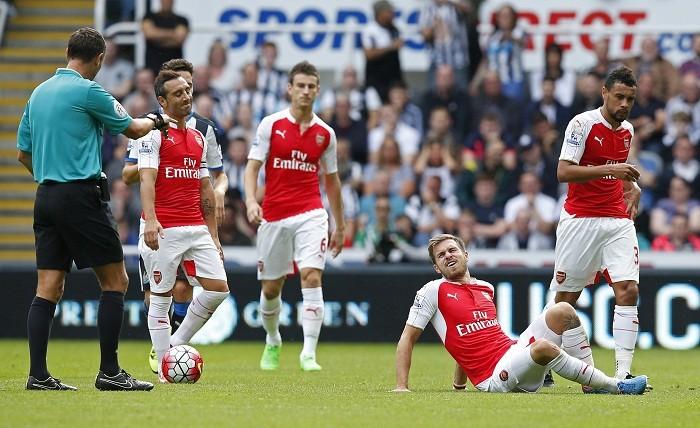 Arsenal Cazorla Koscielny Ramsey Coquelin Referee Andre Marriner