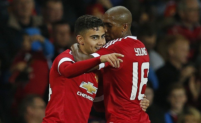 Andreas Pereira Ashley Young Manchester United