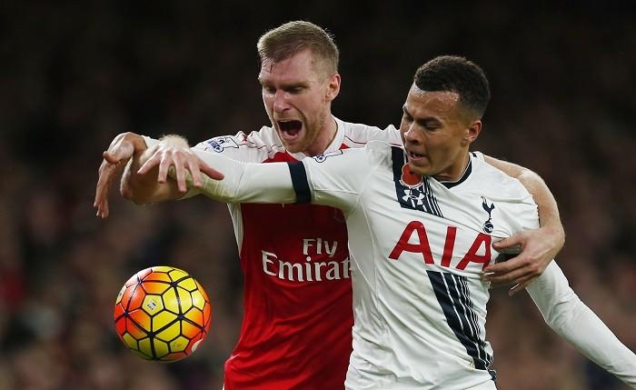 Per Mertesacker Arsenal Dele Alli Tottenham