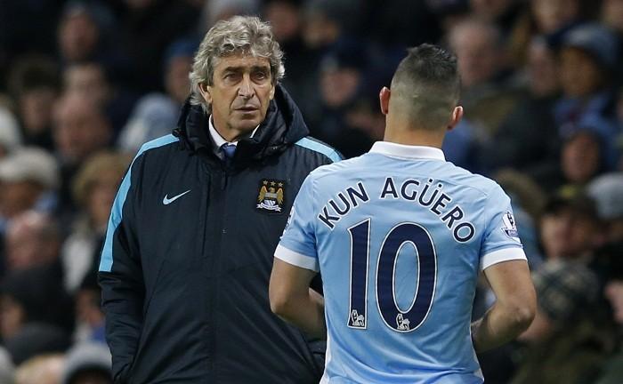 Sergio Aguero Manchester City Manuel Pellegrini