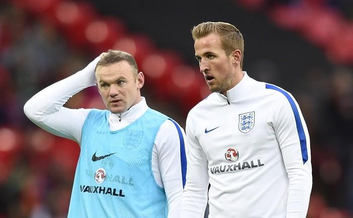 Wayne Rooney Harry Kane England
