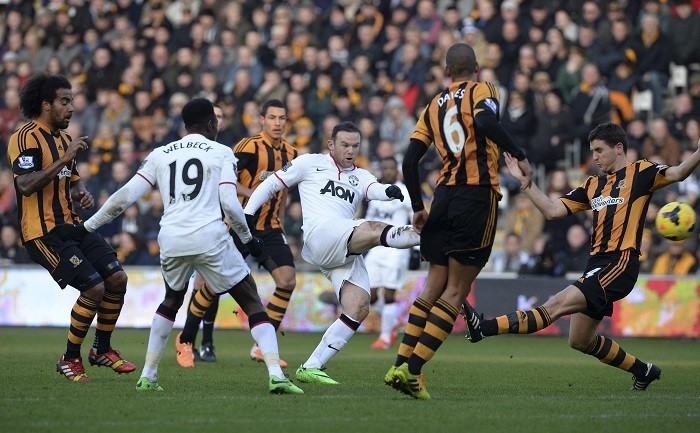 Wayne Rooney Manchester United Hull City