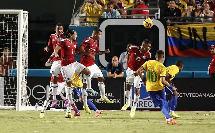 Neymar Brazil Colombia