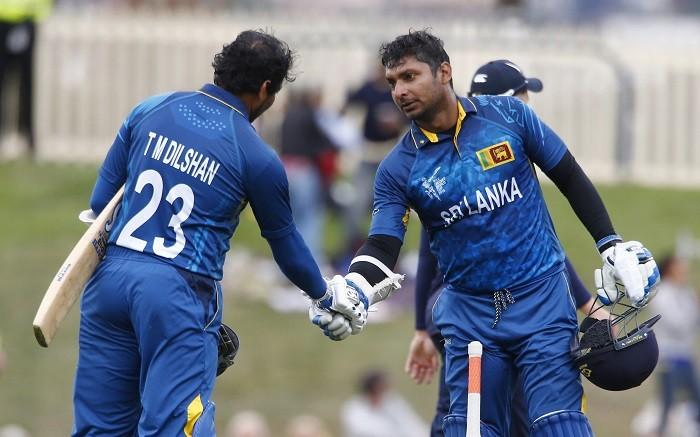 Kumar Sangakkara Tillakaratne Dilshan Sri Lanka ICC Cricket World Cup 2015