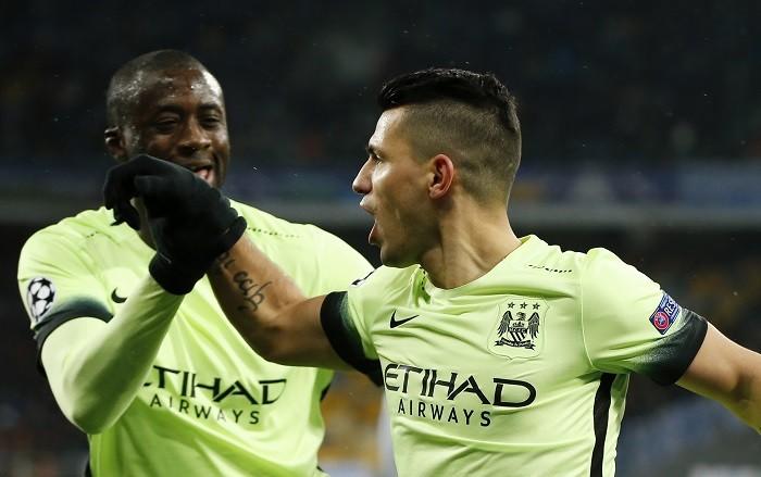 Yaya Toure Sergio Aguero Manchester City