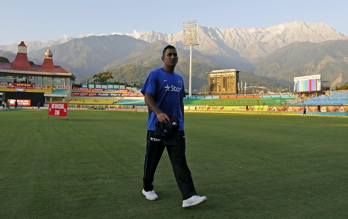 MS Dhoni India Dharamsala
