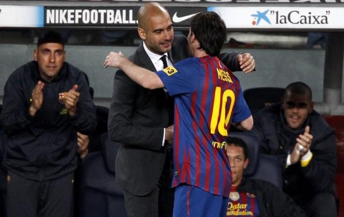 Pep Guardiola Lionel Messi Barcelona