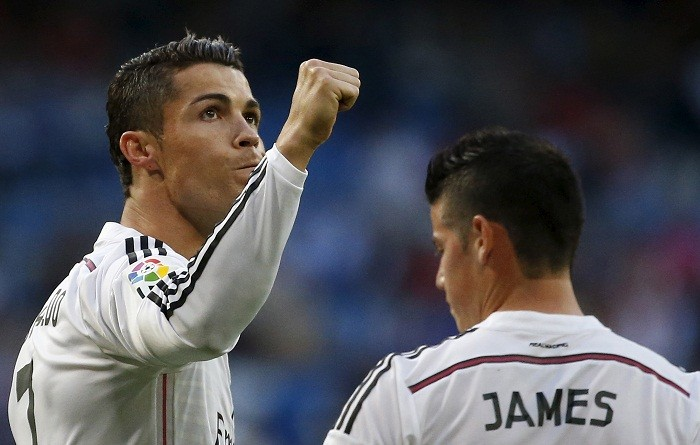 Cristiano Ronaldo Real Madrid James Rodriguez