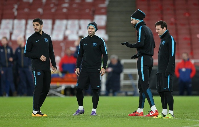 Suarez Mascherano Messi Pique Barcelona