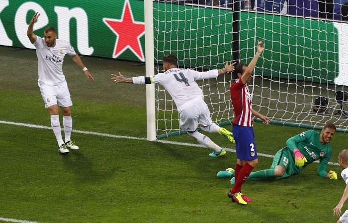 Sergio Ramos Real Madrid Atletico Madrid