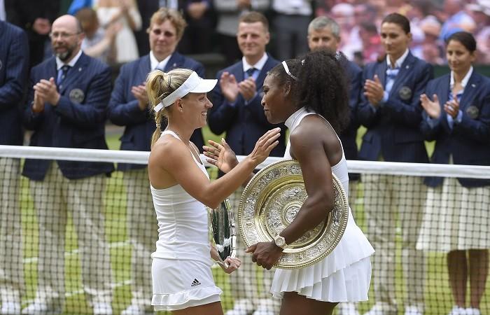 Serena Williams Angelique Kerber Wimbledon 2016 final