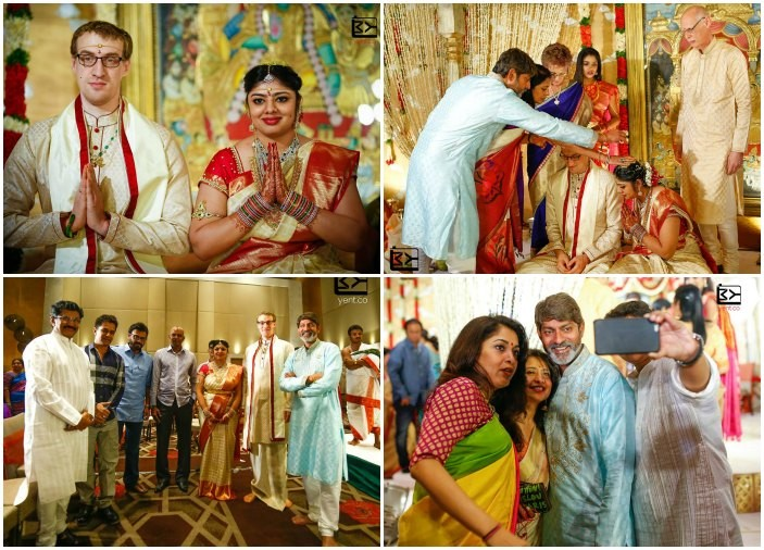 Jagapathi Babu's daughter wedding photos,Jagapathi Babu's daughter marriage photos,Meghana Chad Bowen wedding photos,Venkatesh,Arjun Sarja,Ramya Krishna,Murali Mohan,Jagapathi Babu
