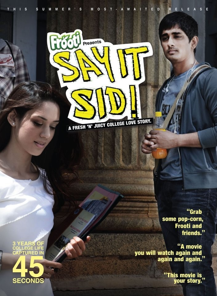 Actor Siddharth in Frooti commercial