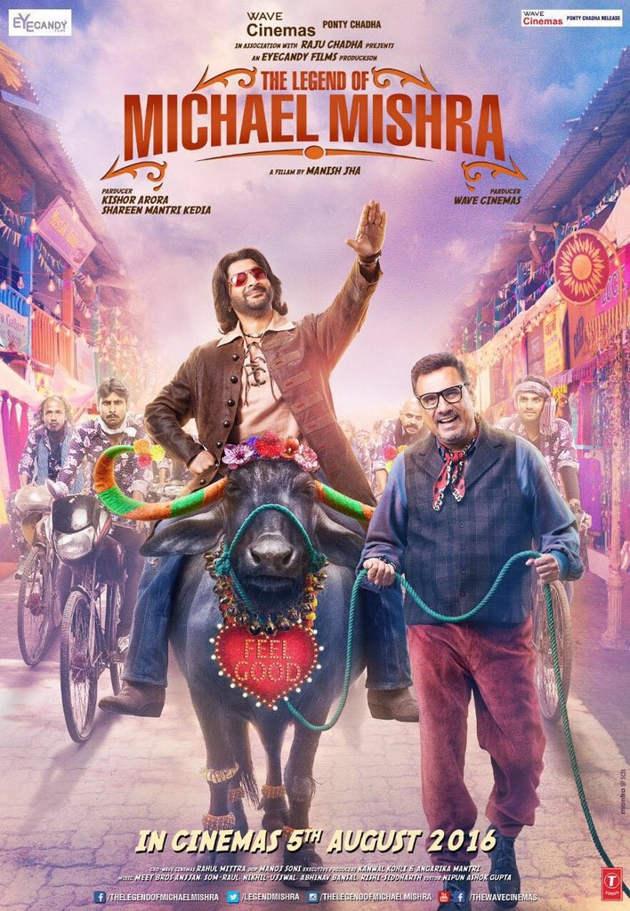 The Legend of Michael Mishra,The Legend of Michael Mishra first look poster,The Legend of Michael Mishra poster,Arshad Warsi,Aditi Rao Hydari,Boman Irani,Kayoze Irani,bollywood movie The Legend of Michael Mishra