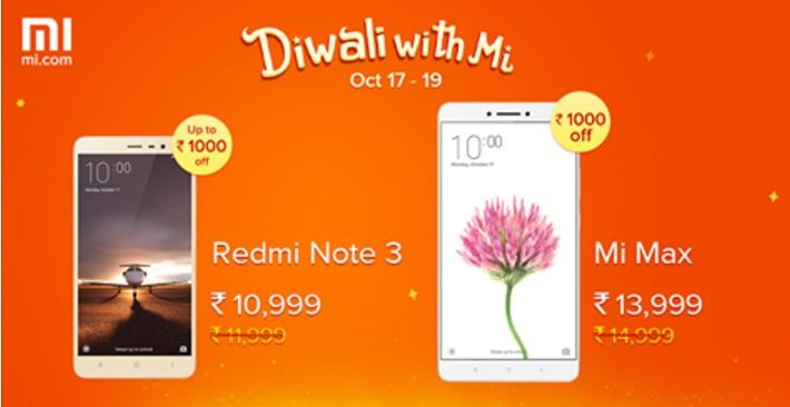 Xiaomi Mi Diwali Sale 2016: Redmi Note 3, Mi Max series to get price cut next week