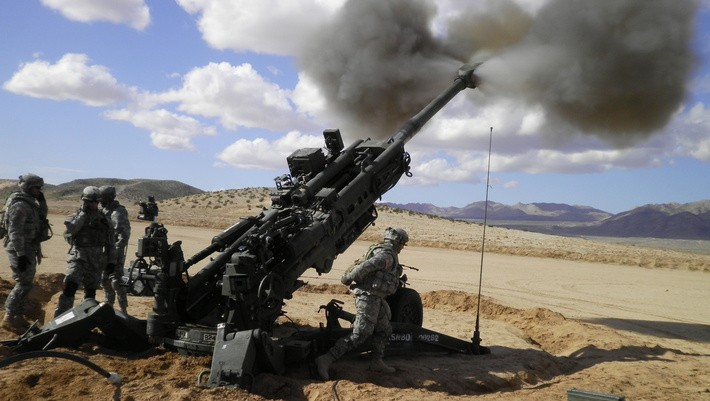 M777 howitzers