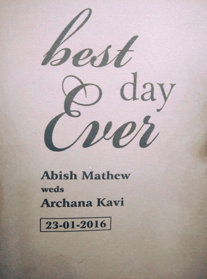 Archana Kavi,Archana Kavi wedding photos,Abish Mathew wedding pics,archana kavi abish wedding pics