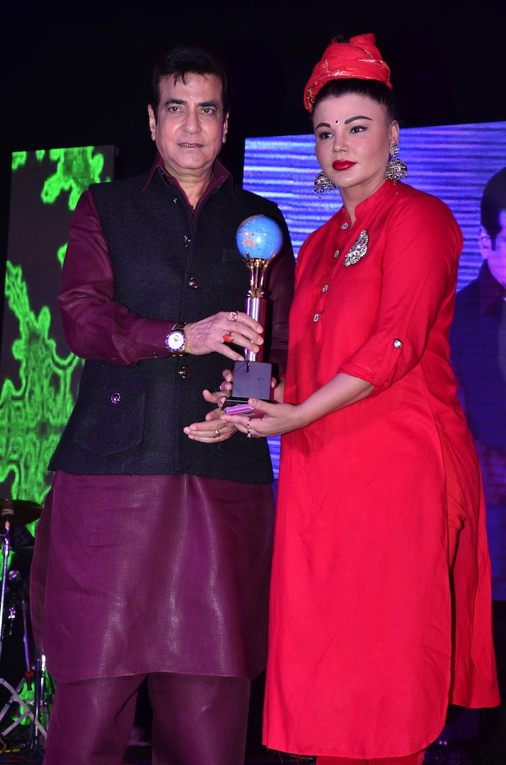 Mumbai Global Achiever's Award,Mumbai Global Achiever's Award 2016,Bhajan Samrat Anup Jalota,Gufi Paintal,Arun Bakshi,Jeetendra Kapoor,actor Jeetendra Kapoor,Kanchan Avasthi