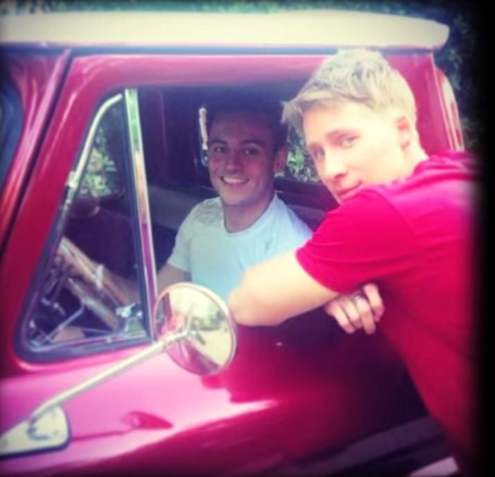 Tom Daley and Dustin Lance Black