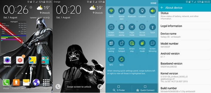 Update Samsung Galaxy S6 with Custom Android 5.1.1 Lollipop via VaderROM [How to install]