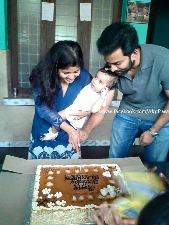 Alankrita Menon,Alankrita birthday,prithviraj's daughter,prithviraj daughter birthday,alankrita first birthday celebrations