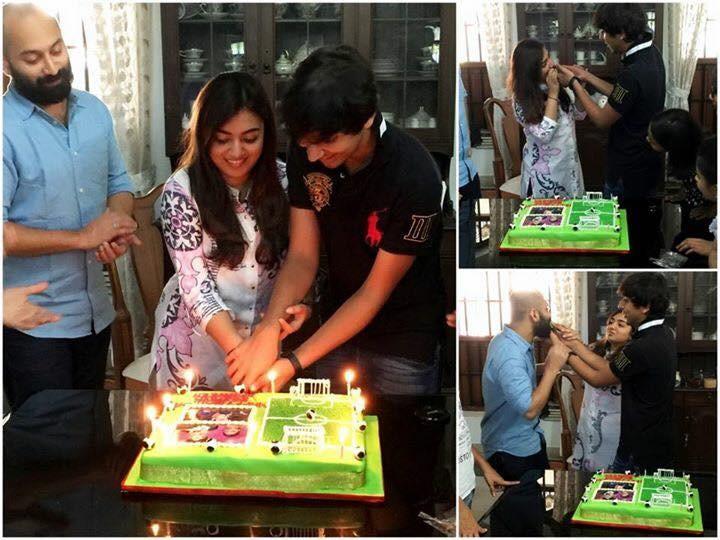 Nazriya Nazim,Nazriya Nazim birthday celebration,Nazriya Nazim birthday,Nazriya Nazim celebrates birthday with Fahadh Faasil,Fahadh Faasil,Nazriya Nazim with Fahadh Faasil