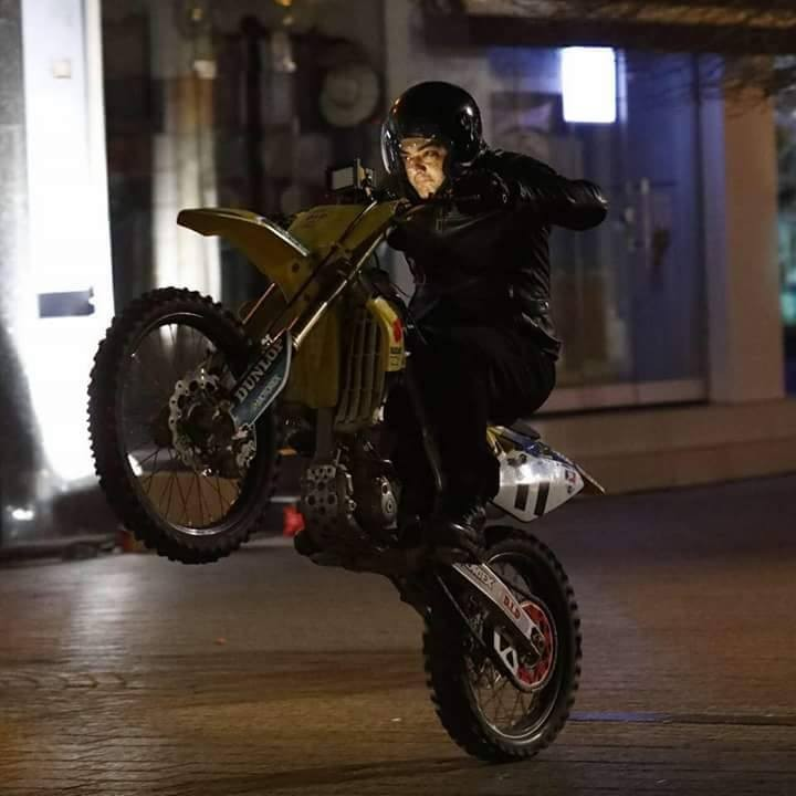 Thala Ajith Kumar's bike stunt on set of Thala 57