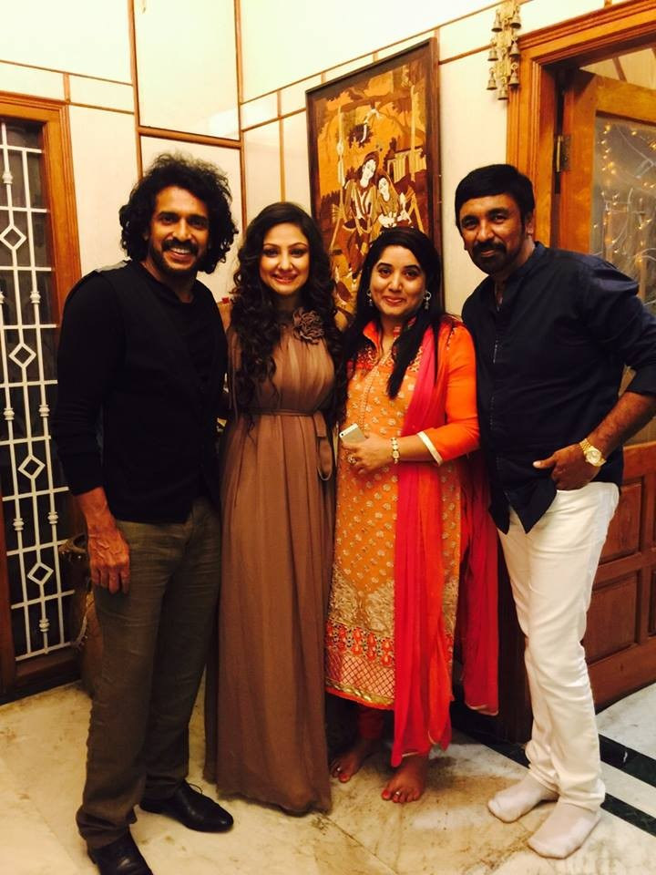 Uppi Couple with Guests