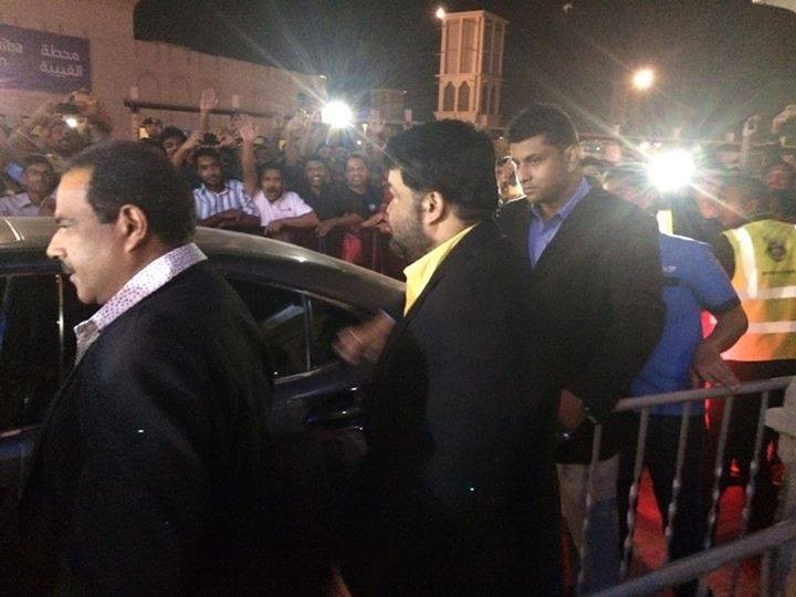 Mohanlal arriving for the special screening of