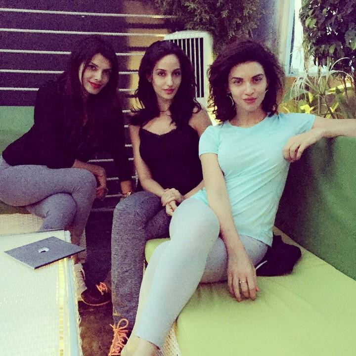 Nora Fatehi, Scarlett Wilson and Gabriela Bertante