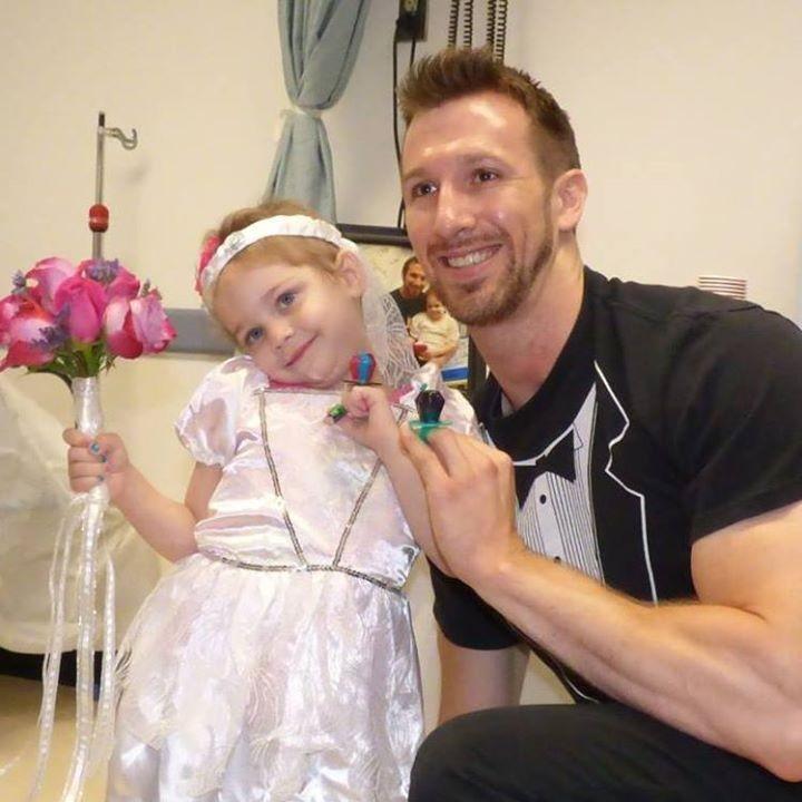Abby with her nurse Matt Hickling