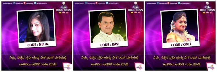 Ravi Mooruru, Neha Gowda, Kruthika nominated for elimination