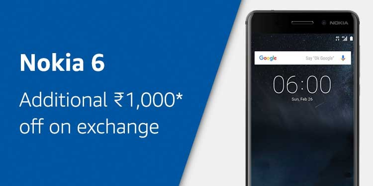 Nokia 6 on Amazon India