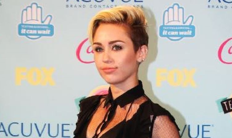 Pop star Miley Cyrus