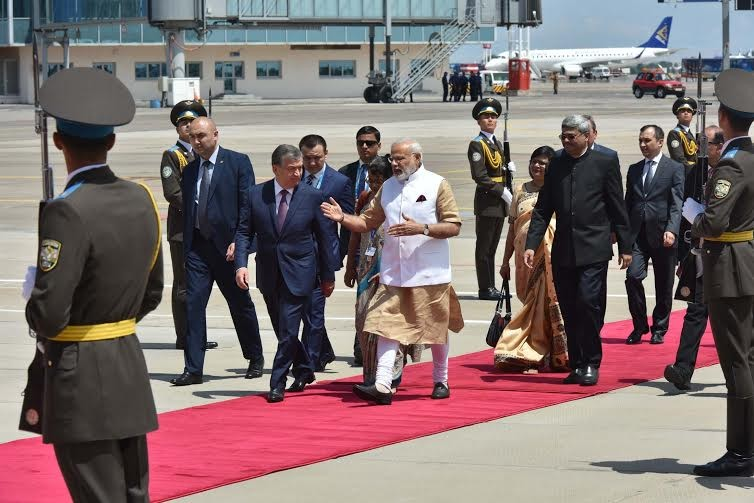 Narendra Modi,Modi,PM Modi,Narendra Modi arrives in Tashkent for SCO summit,SCO summit,Shanghai Cooperation Organisation,Uzbekistan capital