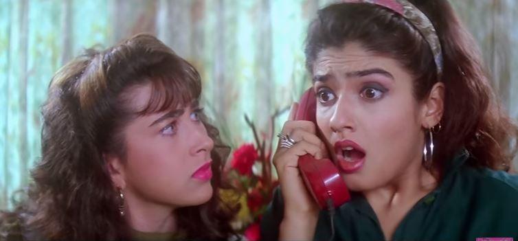 Karishma Kapoor and Raveena Tandon